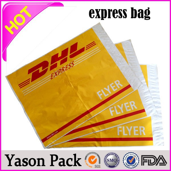 Yason poly plastic poly courier bags envelope express bag poly adhesive seal plastic custom logo printed courier mailing bag man