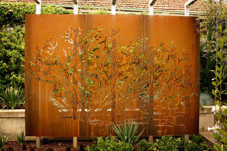 Decorative Corten Steel Sheet Metal Privacy Fence Panel