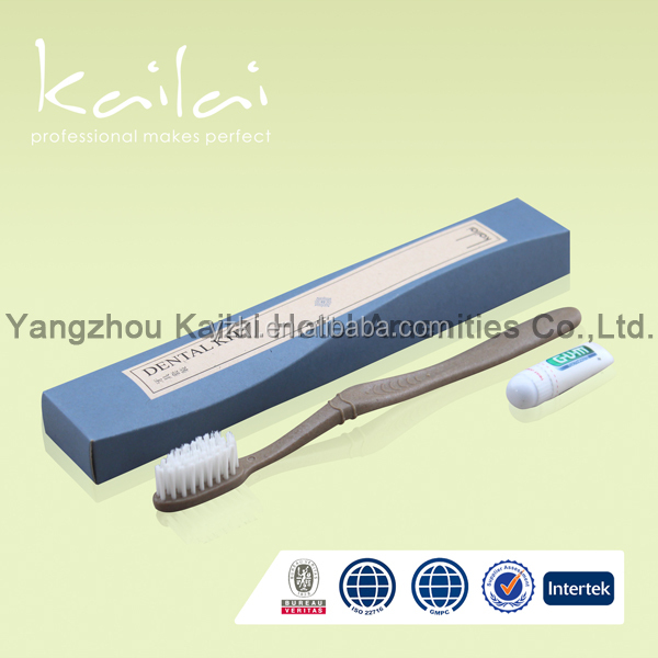 packaging disposable hotel travel kit/travel frosted toothbrush dental kit/portable hygiene cheap disposable dental kit
