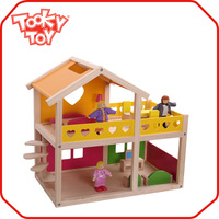 Interactive Cartoon diy kids miniature doll house toy