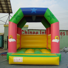 2015 YBJ CE cheap small thomas the train indoor inflatable bouncer with basketball hoop for kids