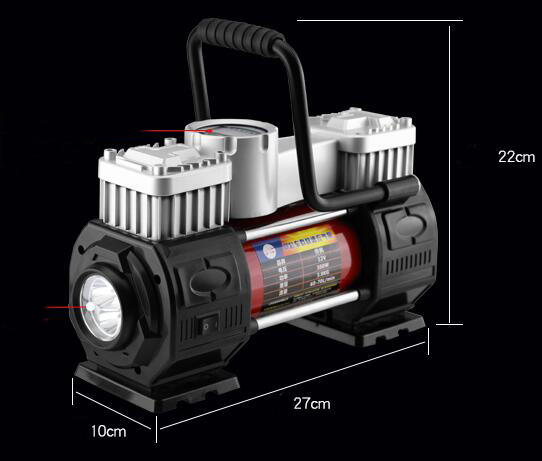 portable 12V tire inflator with light Car Air-Compressors