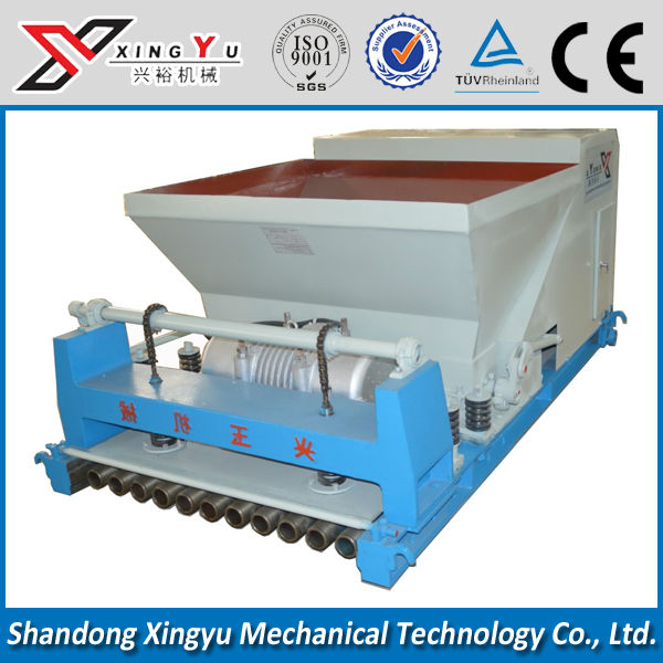 120mm thickness large span vibration hollow core frame prestresed slab making machine