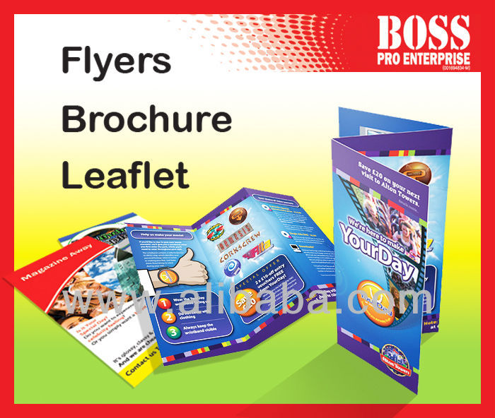 Printing brochure, flyers, leaflet, booklet (A3, A4, A5)