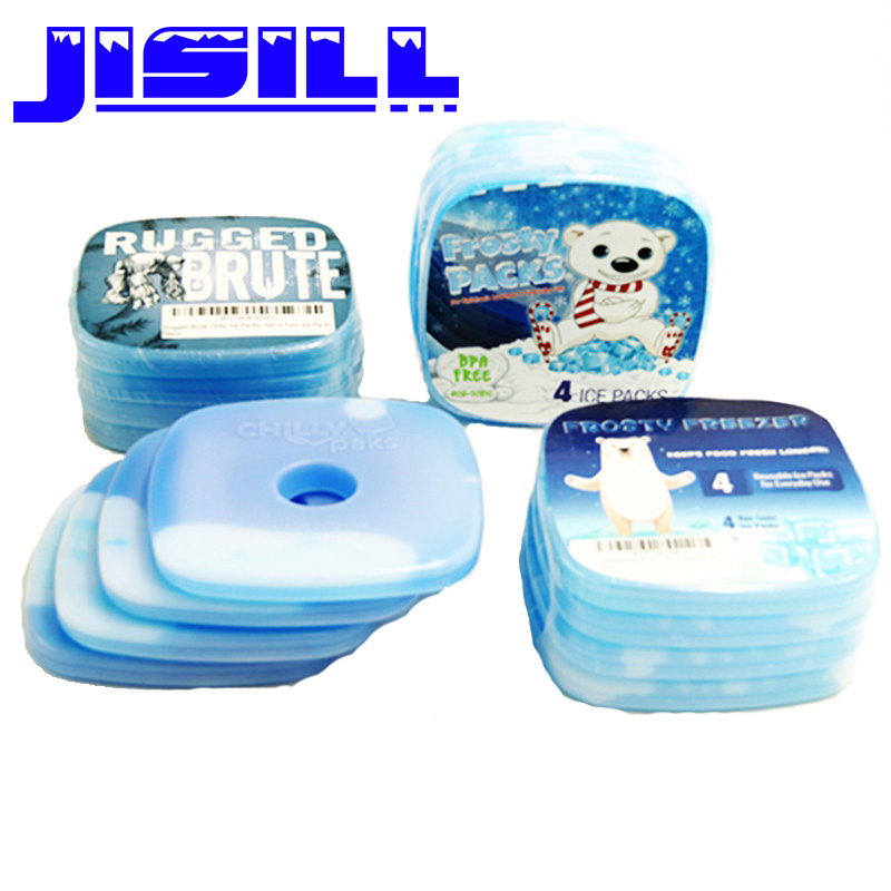 rigid plastic cheap slim fit fresh cool cooler non-toxic gel ice pack for lunch box