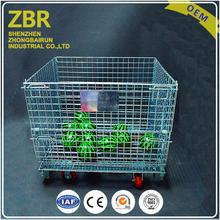 stackable secure folding storage cage heavy duty wire mesh cages