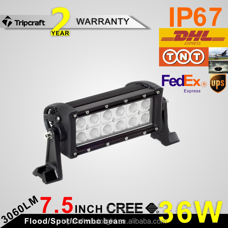 Auto spare parts 36w led light bar 7 inch 4x4 led car Light for SUV 12V 36W led offroad lights