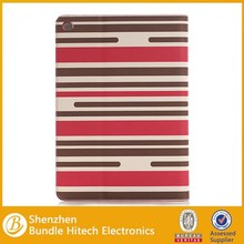 New Arrival Horizontal Stripe Pattern Flip Leather Stand Case for iPad Air 2
