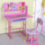 Household furniture 3D carton picture kids study table and chair