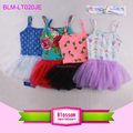 Spaghetti Strap Girls Dance Tank Leotard With Chiffon Skirt Ballet Tutu Dance Dress
