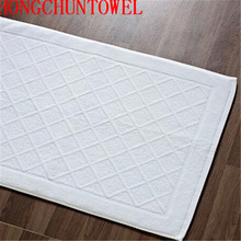 Terry cloth 100% cotton hotel bath floor mat bath foot towel bathroom floor towel mat