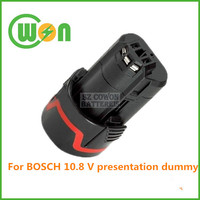 Replacement cordless drill tool battery 10.8v li-ion for bosch battery for BOSCH 10.8V presentation dummy