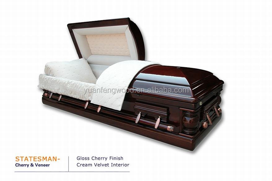 STATESMAN funeral adult MDF casket coffin wholesale