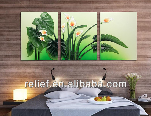 handmade wall decoration flower oil painting
