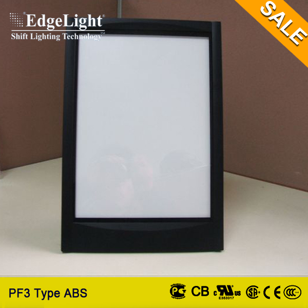 Edgelight High Quality ultra slim led flat light box with processing machinery Shanghai