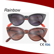 New trendy italian design promotion cat eye sun glasses