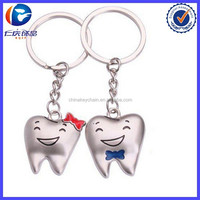 New Product Cute Smile Tooth Lover Lovers Couple Keychain