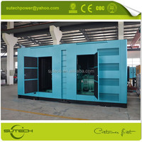 High quality 1000Kw silent generator powered by Cummins KTA50-G3 engine, Containerized type or Open type