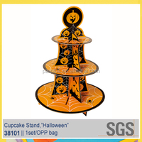 Customized Halloween Supplies 3 Tiers Heavy Strong Cardboard Cupcake Stands