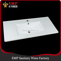 Popular design bathroom middle edge cabinet wash hand basin with various types