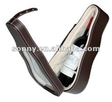 Customized pu leather wine display case