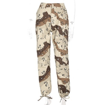 Wholesale casual loose floral jersey jogger trousers , women pants