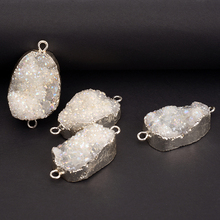 Handmade Jewelry Making Accessory Silver Plated Pendant Druzy Charm Wholesale Accessory