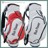 white color custom leather clubmaxx golf bags