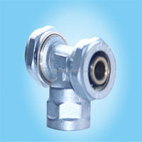Female Thread Brass Tee Pipe Connector for Gasline