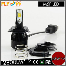 DC9V 36V M5F LED Motorcycle Headlight 25W * 2, 2800LM*2 COB Chip Super Bright