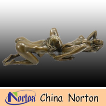 life size man and woman bronze sculpture erotic NTBH-S0145