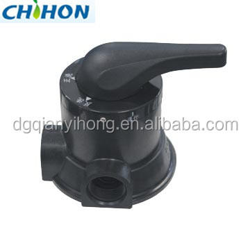Manual water filter diverter valve in water treatment plant