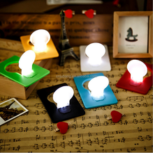 Creative mini pocket led card light / Bulb Shaped Led Credit Card Light / Led Credit Card Light