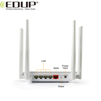 802.11n/b/g/ac Standard  1200Mbps High Speed EDUP Brand Wireless WiFi router
