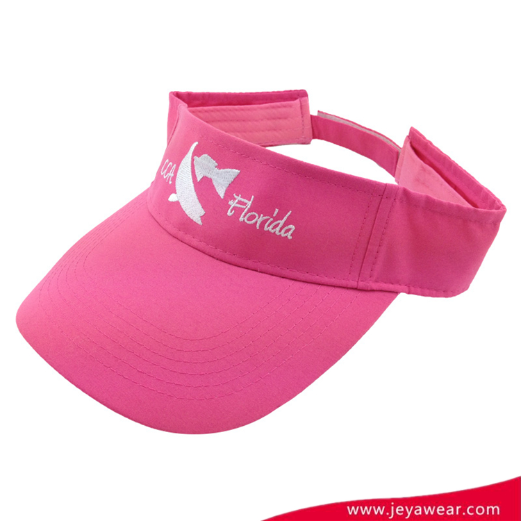Cheap cotton sports sun visor cap for girls