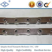 ISO DIN standard steel pitch 31.75mm C2052HP roller type hollow pin chain with straight side plates