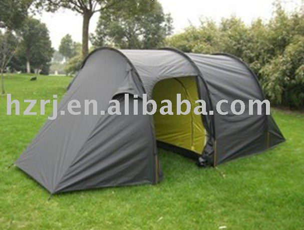 Big black camping tent with PU1500mm