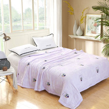 China factory directsale 200*230cm cheap100% polyester light purple summer quilt down