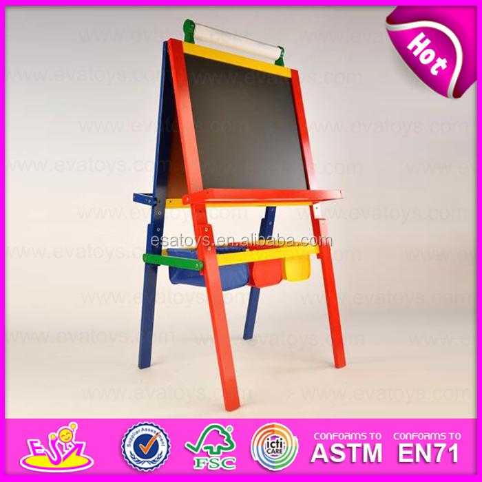 2015 new wooden toy easel painting for kids popular wooden drawing