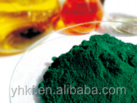 Extremely heat-stable inorganic chemical pigment chromium oxide green 99%