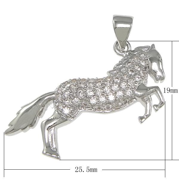 925 Sterling Silver Horse Silver Hip Hop Pendant 925 852029