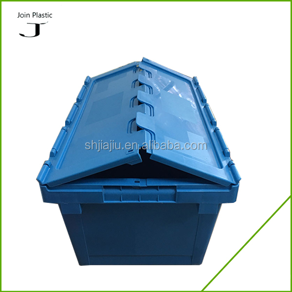 60L Moving Storage Stackable Logistics plastic tote bins