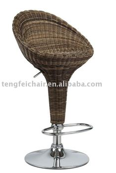 high quality swivel rattan bar chair TF-701