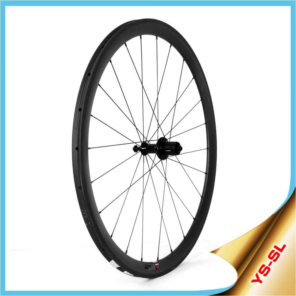 Lightcarbon !! 700C 16-24 Straight Pull TaiWan Carbon Road Bike Wheelset 38* 23mm Tubular SL38T