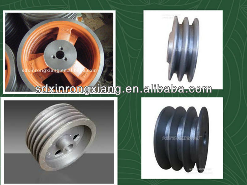 foundry supply precise precoated sand casting types of timing belt pulleys