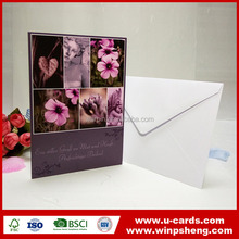 Elegant wedding invitation card luxury with pocket