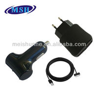 USB AC Wall Home charger +Car Charger +Data Cable for iPod Touch iPhone 3G 3GS 4S 4