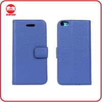2014 Trendy Blue High Quality Leather Wallet Stand Book Case for iphone 5c