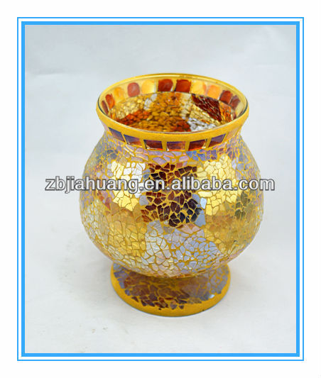 Crackle Mosaic Glass Restaurant Table Flower Vase