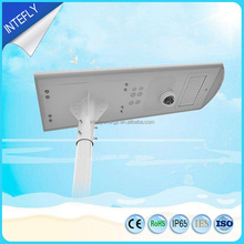 INTEFLY design nice price led outdoor lighting solar street light with multi-function of playing music,send broadcase message